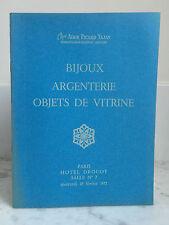 Catalogue de vente Bijoux Argenterie Objets de Vitrine n°7 19 Février 1975