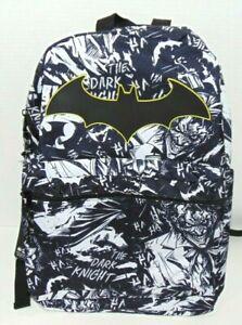 "DC Comics Batman Comic Print 16"" Kids Backpack NWT New With Tags"