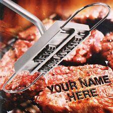 BBQ Brandeisen Buchstaben Grillzubehör Zange Werkzeug Tool Set Burger Steak