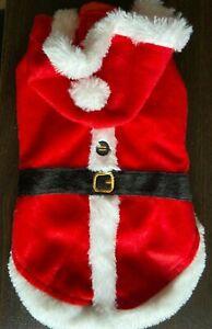 Santa Claus Dog Shirt with Hood Size XS