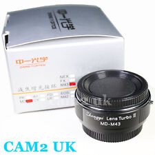 Zhongyi Focal Reducer Lens Turbo II Booster Minolta MD to Micro 4/3 Adapter OM-D