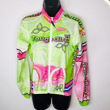 Mt Borah Womens Cycling Jersey XS Shirt Top Tough Girl Green Pink Full Zip
