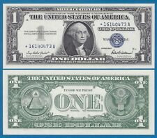 STAR Note United States $ 1 UNC 1957 Silver Certificate Blue P 419 Replacement!