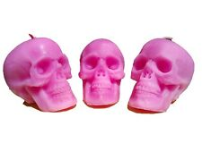 Skull candle, Votive ritual candle, Spell candle, Gothic home decor skull 2.7in