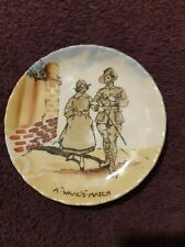 More details for royal doulton hand painted wwi pin tray - australian light horse