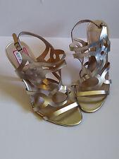 BCBG Paris {Size 10} Gold Cut Out High Heel Sandals EXCELLENT!