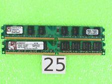 New listing Kingston 4Gb (2X2Gb) Ddr2 Pc2-6400 800Mhz Kvr800D2/2Gr Memory Ram