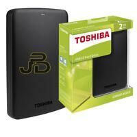 """HARD DISK ESTERNO 2TB 2,5"""" USB 3.0 TOSHIBA CANVIO WINDOWS/MAC OS AUTOALIMENTATO"""