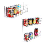 BSM Door Mounted JAR TIN Spice Storage Rack Cupboard Kitchen