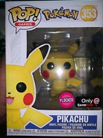 FUNKO POP! GAMES POKEMON FLOCKED PIKACHU GAMESTOP EXCLUSIVE #353