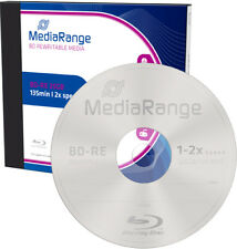 MediaRange Blu-ray BD-RE 25Gb 1-2x Rohlinge Jewelcase wiederbeschreibbar