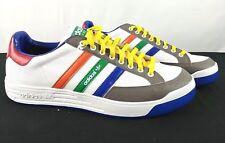 NEW Mens Adidas Nastase Lea Originals White Multi Color Size 12