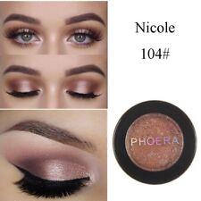 PHOERA Makeup Metallic Matte Eyeshadow Palette Cosmetic Shimmer Glitter.