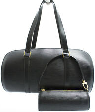 Louis Vuitton epi Soufflot Bag bolso en elegante negro Black Super ztd