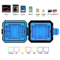 11-Slots 7 in 1 SD TF Memory Cards Storage Case Box Holder Waterproof New