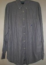 Nautica Men's Long Sleeve Striped Button Front Shirt-Size Large GUC