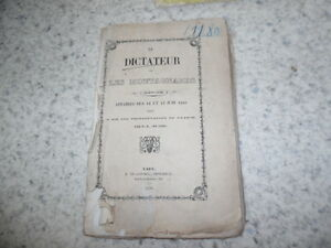 1850.Le dictateur ou les montagnards.12 et 13 juin 1849.H.B.de Caen