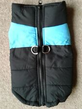 """BLACK PADDED DOG COAT for Small Breed or Puppy Length 30cm (12"""")WARM JACKET VEST"""