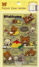 San-X Rilakkuma Relax Bear 2 Pockets Mini Plastic File Folder #5