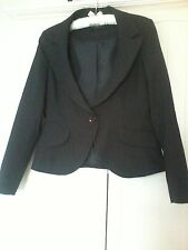 Jacket by Evie collection size 12 Black pinstripe business /formal /evening