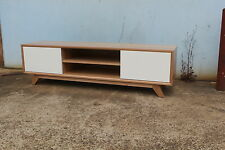 Local made tassie oak hardwood timber Retro+ lowline entertainment TV unit1800w