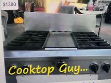 """36"""" Kitchen Aid Stainless Gas Range top, 6 or 4+ griddle, n gas or Propane"""