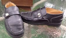 COACH  Black Leather Loafers Italy Womens Size 7 Casual Shoes J356
