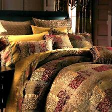 5PC SET CROSCILL GALLERIA Burgundy Red King Comforter, Pillow & Shams & Bedskirt