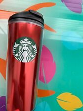 Starbucks Red Acrylic Tumbler Travel Mug 12 Oz Coffee New