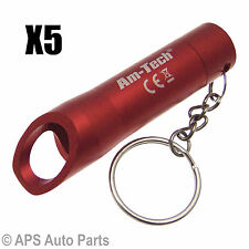 5x 3 Bright LED Torch Light Camping Flashlight Key Ring Bottle Drink Opener Beer