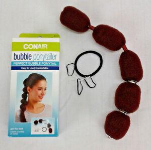 Conair Bubble Ponytailer Hair Tie/Design 8 Pieces Easy To Use #55712