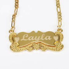 Personalized Gold Necklace Nameplate Necklace US SELLER