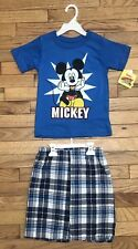 Disney Mickey Mouse Roadster Racers 2-Piece Outfit-T-Shirt & Shorts Size 4T Nwt
