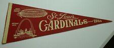 1966 Dated St Louis Cardinals Baseball Pennant New Busch Stadium Arch Logo