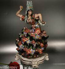 Bella maiolica Flamenco Ballerina ITALY Linia Lenci Artist-ART DECO