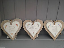 Wooden Heart Decorative Hanging Signs