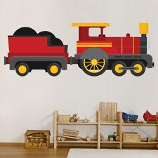 Red Train Steam Engine Wall Sticker WS-46600