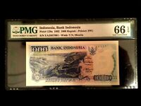 Indonesia 1000 Rupiah 1992 Banknote World Paper Money UNC - PMG Certified