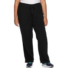Plus Size Lounge Pants-3X BY TEK GEAR-MICROFLEECE BLACK