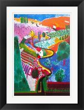 Nichols Canyon, by David Hockney, Framed Art, 35x27
