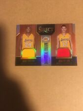 Kobe Bryant & Jeremy Lin 2014/15 Select Double Team Dual Game Jersey 15/49