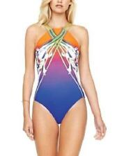 GOTTEX 12 Ombre Iris Sunset High Neck Strappy Back Swimsuit NWT $178