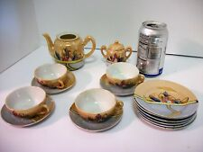Vtg 16 Pc. Lustreware Tea Set Made in Japan
