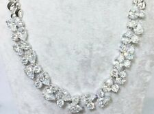 18k White Gold GF Necklace made w Swarovski Crystal Diamond Stone Bridal Jewelry