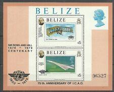 FLUGZEUGE/ Belize MiNr Block 8 **