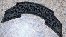 US ARMY PATCH,ORIGINAL 1984 TO 1985, 3RD RANGER BATTALION, SCROLL, OD GREEN