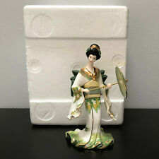"Bradford Exchange Angelic Charms Silken Whispers 8"" Geisha Girl Figurine Mip"