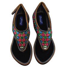 Jaipuri Rajasthani zari embroidery Women's Ethnic flat chappal Handmade Footwear