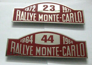 RALLYE MONTE  CARLO 1972/1964 - SET OF 2PCS CAR GRILL BADGE EMBLEM LOGOS
