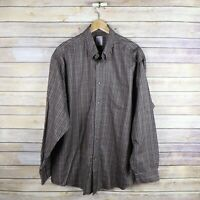 BROOKS BROTHERS Men's Madison Non Iron Long Sleeve Button Front Shirt XL Supima